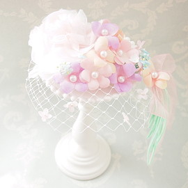 Dreamin` Lavender - Bridal♡pastel bouquet headdress ヘッドドレス