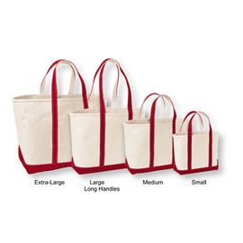 L.L.Bean - Boat & Tote Bag, Open Top (Red)