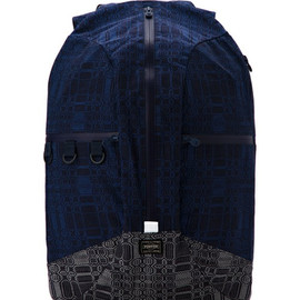 White Mountaineering×PORTER - JACQUARD GEOMETRIC PATTERN BACKPACK
