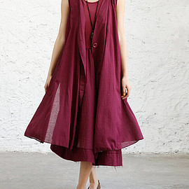 Dresses - Women Cotton sleeveless maxi Dresses