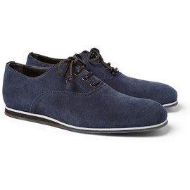 Tod's No_Code - Rubber-Sole Suede Oxford Shoes
