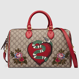 GUCCI - Limited Edition GG Supreme top handle bag with embroideries