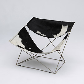 Pierre Paulin - Butterfly Chair with Cow skin