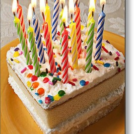 Fine Art America - Candles On Birthday Cake Metal Print By Garry Gay