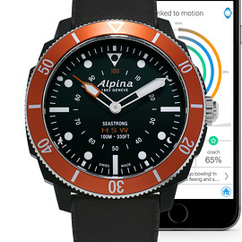 Alpina Watches - Seastrong Horological Smartwatch - Black/Red