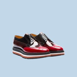 PRADA - Wing-Tip LACE-UP shoes (SCARLATTO+TABACCO)