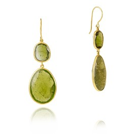 22-karat gold chrysoprase earrings