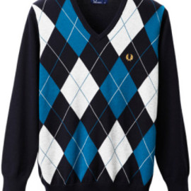 Fred Perry - Argyle V-Neck Sweater