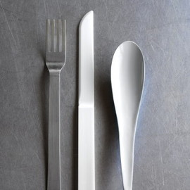 when objects work - The Hybrid Cutlery by Maarten van Severen