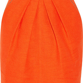 Tamara Mellon - Cotton-blend canvas mini skirt