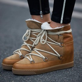 Isabel Marant - Isabel Marant Nowles Shearling-Lined Snow Boots