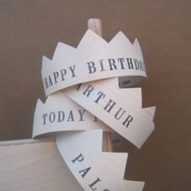 wooden birthday crowns