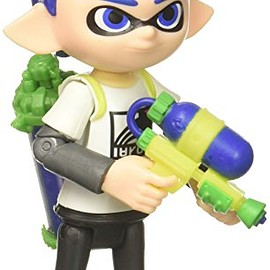 Jakks Pacific, NINTENDO - World of Nintendo Inkling Boy with Blaster Action Figure, 4""