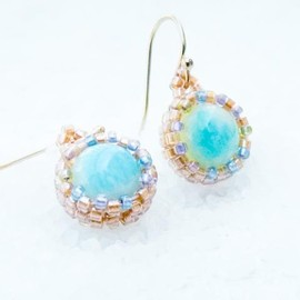 Luulla - The Breath. Turquoise jewelry. Romantic Dangle Earrings, Rustic wedding, Bridesmate, tbteam