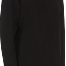 Maison Martin Margiela - Maison Martin Margiela Black Leather_patched Classic Sweatshirt in Black for Men