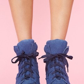 Jeffrey Campbell - Venice Wedge Sneaker - Blue