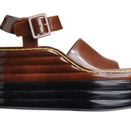 Céline - Wedged heel in spazzolato leather