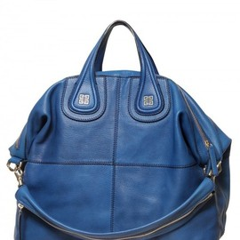 GIVENCHY - Givenchy Nightingale Medium Smooth Top Handle in Blue