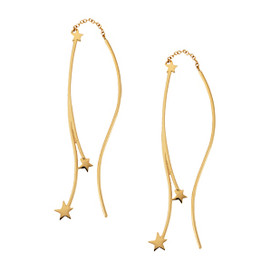STAR JEWERY - STAR HOOK & CHAIN PIERCED EARRINGS