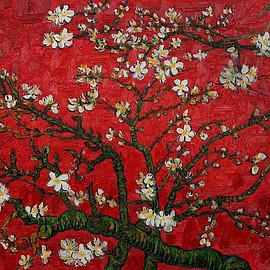 Vincent van Gogh - Almond Blossom - Red Interpretation