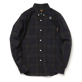 HABANOS - CHECK OXFORD B.D SHIRTS - Black Watch
