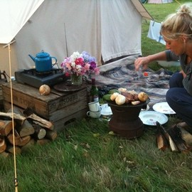 small camp kitchen