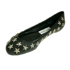 JIMMY CHOO - Star Studs Flat Shoes
