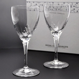 Royal Copenhagen - pair of wine glasses