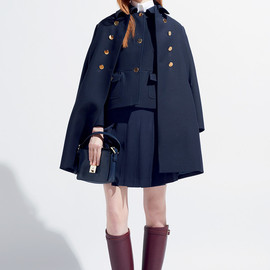 Resort2015 Wool and silk dress with leather collar