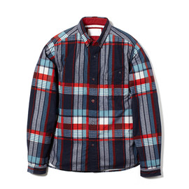 White Mountaineering - COTTON TWILL WEAVE FLANNEL CHECK PATTERN PRINT SHIRT