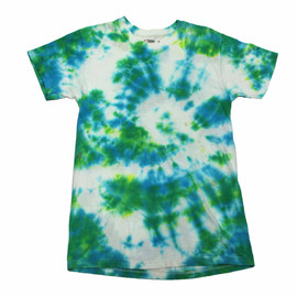 VINTAGE - Vintage Green/Blue Tie Dye Shirt Mens Size Extra Small