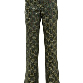 GUCCI - Resort 2019 GG-jacquard flared trousers