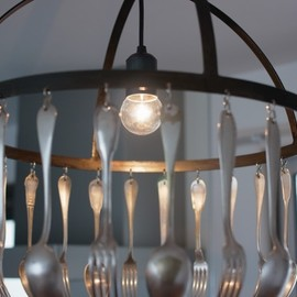Jose Esteves - cutlery lamp