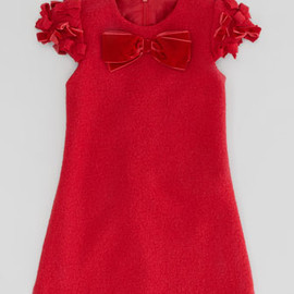 David Charles - Boiled Wool Bow Dress