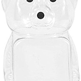 Clearview Container - 8oz Honey bear with Flip Top Lid
