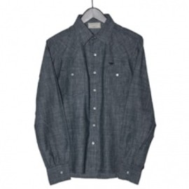KITSUNE - KUROKI DENIM WESTERN SHIRT(BLUE)