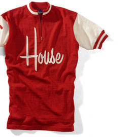 House Industries - HOUSE SCRIPT RED WOOL JERSEY