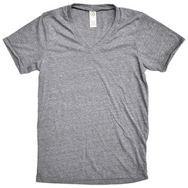Alternative - ECO-HEATHER V-NECK TEE ECO GREY