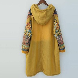 Hooded Maxi dress - Women Hooded Maxi dress, Loose bottoming dress in yellow, red, Loose pullover dress