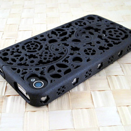 iPhone 4S & 4 Steampunk Inspired Cogs and Gears Puzzle Case