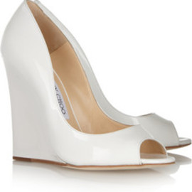 Jimmy Choo - Biel patent-leather wedges
