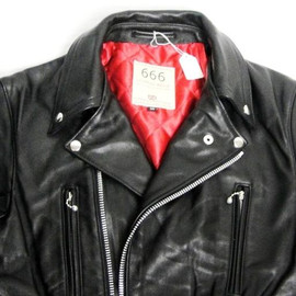 666 - BLK Plain Leather Jacket