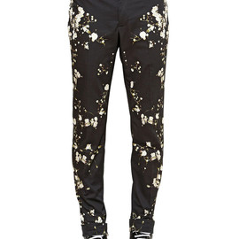 GIVENCHY - SS2015 FLORAL PRINTED SOFT COTTON CANVAS PANTS