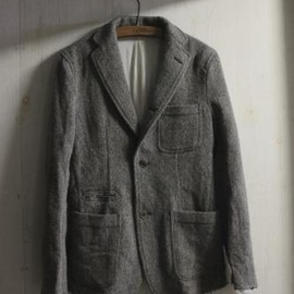 TAKAHIROMIYASHITA The SoloIst. - sport jacket. -blackcharcoal.×beige. -