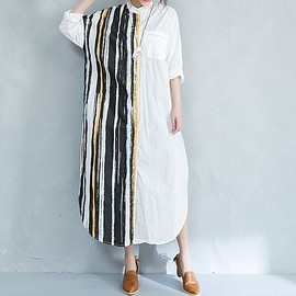 Maxi dress cotton - Maxi dress cotton,maxi dress with sleeves, women dress, white dress, shirt dress