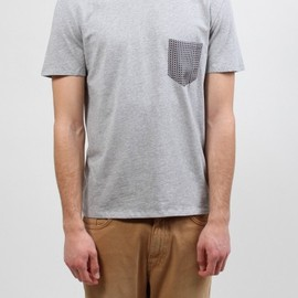 Maison Martin Margiela 10 - Contrast Silk Pocket T-Shirt Grey