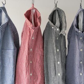 maillot - Sunset round collor work gingam check shirts