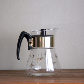 Vintage Corning Gold Pattern Coffee Pot