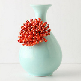 Anthropologie - Curvy Chrysanthemum Vase