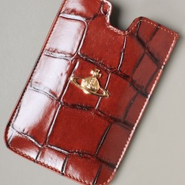 Vivienne Westwood - iPhone Crocodile Strap Holdall in Burnt Red